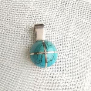 Jewelry - Sterling 950 silver turquoise pendant
